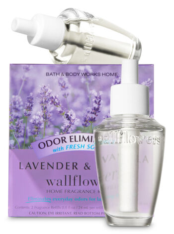 Lavender & Vanilla Odor Eliminating Wallflowers Refills, 2-Pack - Bath And Body Works