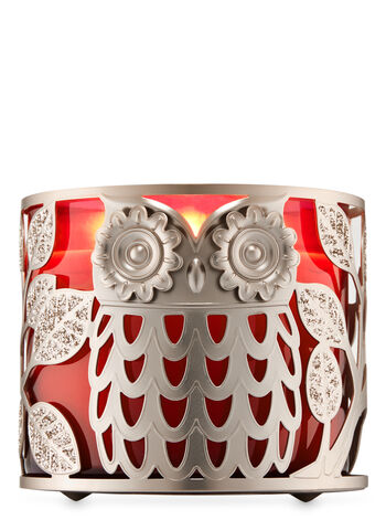 Owl with Leaves 3-Wick Candle Holder - Bath And Body Works