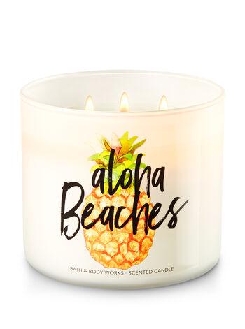 Aloha Beaches - Aloha Kiwi Passionfruit 3-Wick Candle - Bath And Body Works