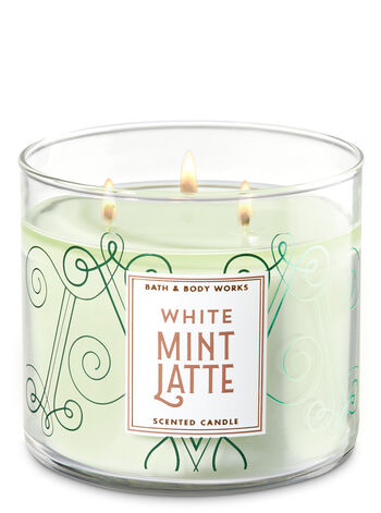 White Mint Latte 3-Wick Candle - Bath And Body Works