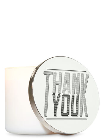 Thank You 3-Wick Candle Lid Magnet - Bath And Body Works