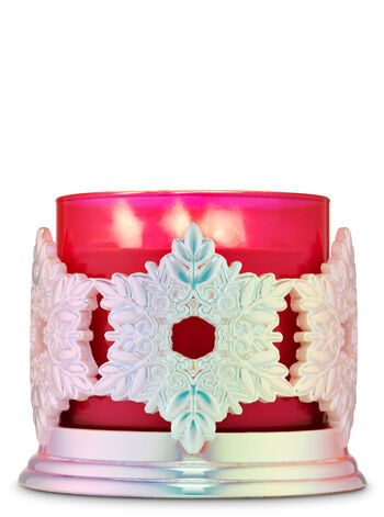 Snowflakes 3-Wick Candle Holder - Bath And Body Works