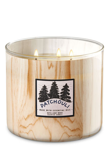 White Barn Patchouli Woods 3-Wick Candle - Bath And Body Works