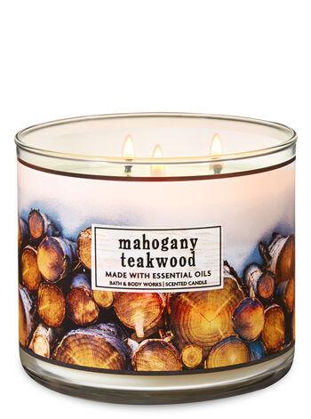 Mahogany Teakwood 3-Wick Candle - Bath And Body Works