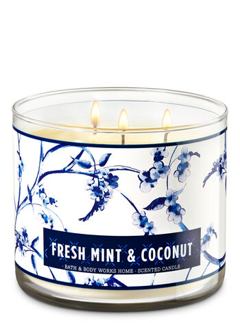 Fresh Mint & Coconut 3-Wick Candle - Bath And Body Works