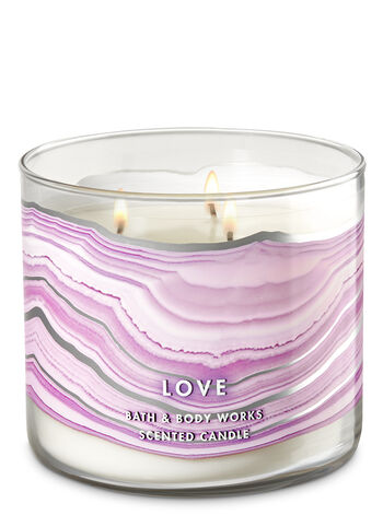 Rose Quartz 3-Wick Candle - Bath And Body Works
