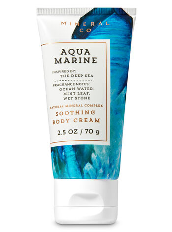 Signature Collection Aquamarine Travel Size Body Cream - Bath And Body Works