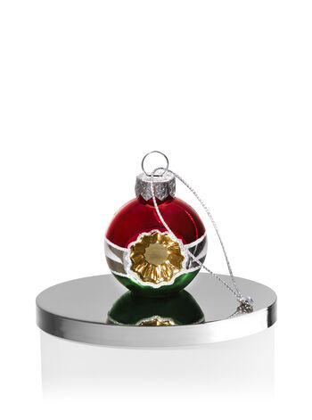 Red, Silver & Green Ornament 3-Wick Candle Magnet - Bath And Body Works