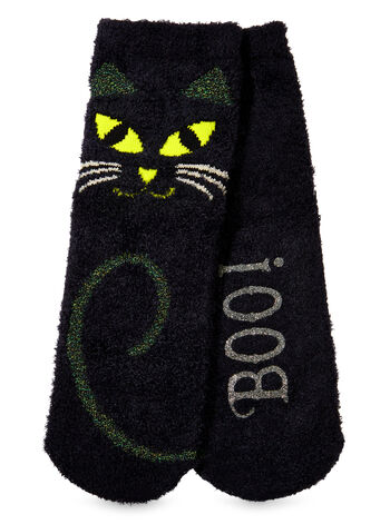 Midnight the Cat Shea-Infused Lounge Socks