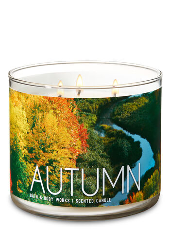 Autumn 3-Wick Candle - Bath And Body Works
