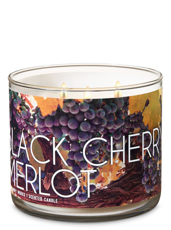 Black Cherry Merlot 3-Wick Candle - Bath And Body Works