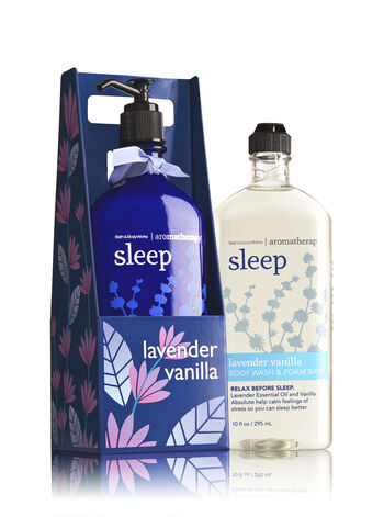 Aromatherapy Lavender Vanilla Lather & Lotion Gift Set - Bath And Body Works