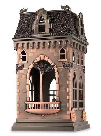 Large Haunted House Luminary 3-Wick Candle Sleeve