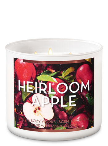 Heirloom Apple 3-Wick Candle - Bath And Body Works