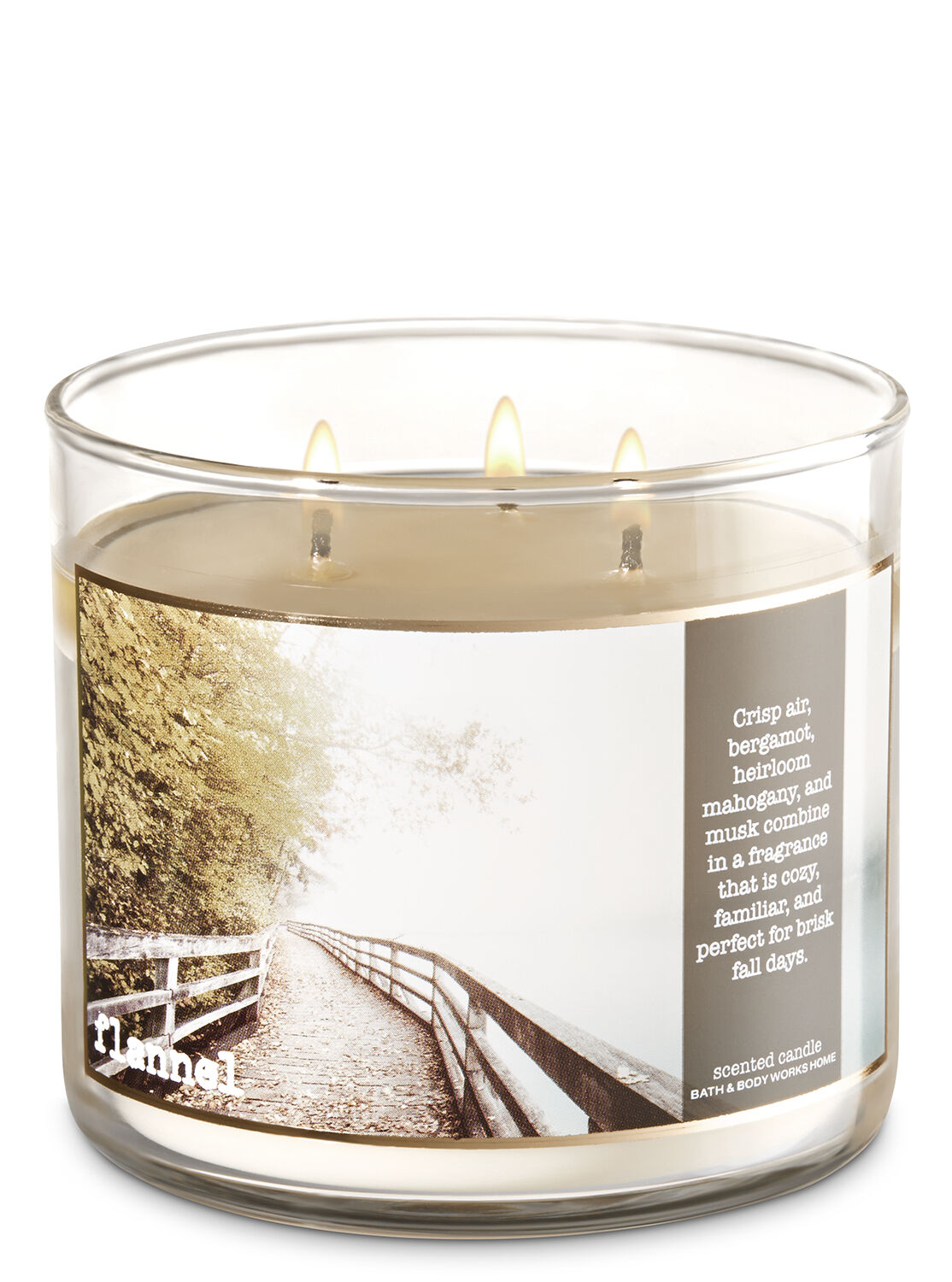 Bath Pictures flannel 3-wick candle | bath & body works