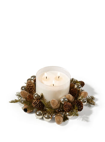 Glittery Pinecone 3-Wick Candle Ring - Bath And Body Works