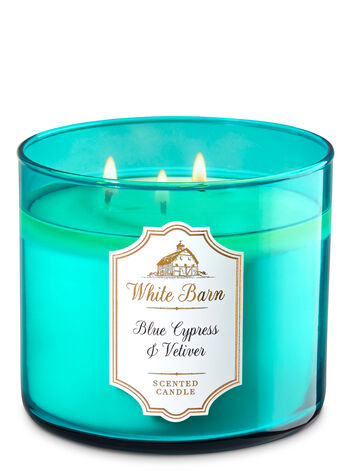 White Barn Blue Cypress & Vetiver 3-Wick Candle - Bath And Body Works