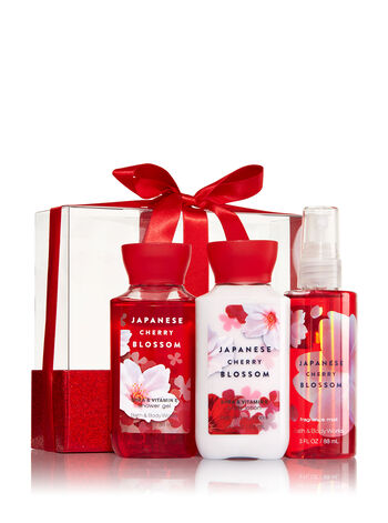 Signature Collection Japanese Cherry Blossom Mini Wrapped with a Bow Gift Set - Bath And Body Works