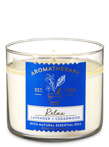 Aromatherapy Relax - Lavender & Cedarwood 3-Wick Candle - Bath And Body Works