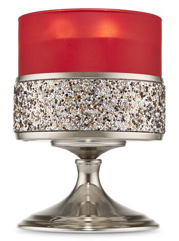 Glittering Pedestal 3-Wick Candle Holder