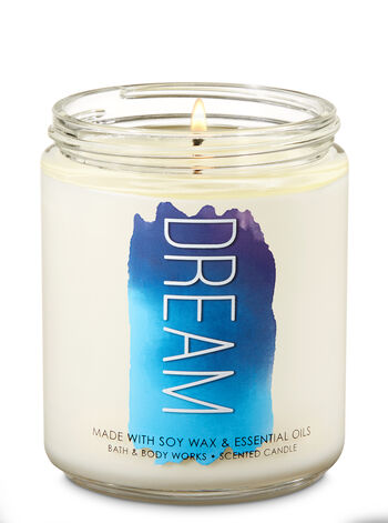 Cozy Lavender Cotton Single Wick Candle - Bath And Body Works