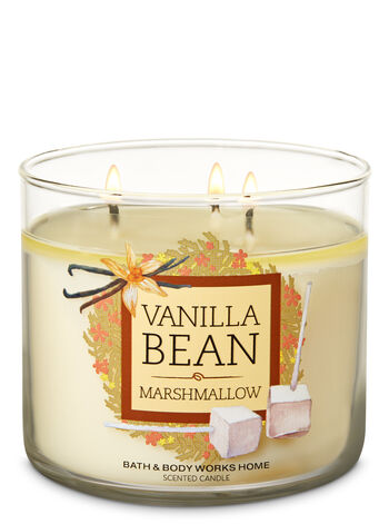 Vanilla Bean Marshmallow 3-Wick Candle - Bath And Body Works