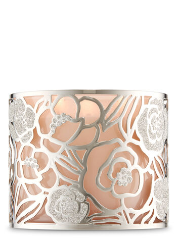 Silver Rose 3-Wick Candle Holder - Bath And Body Works