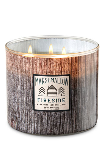 White Barn Marshmallow Fireside 3-Wick Candle - Bath And Body Works
