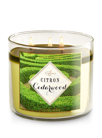 Citron Cedarwood 3-Wick Candle - Bath And Body Works