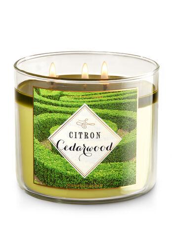 Citron Cedarwood 3-Wick Candle - Bath And Body Works