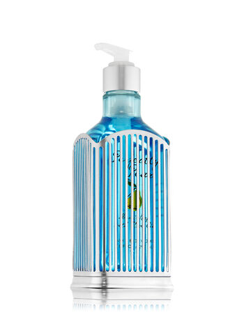 Silver Vertical Stripe Specialty Hand Soap Sleeve