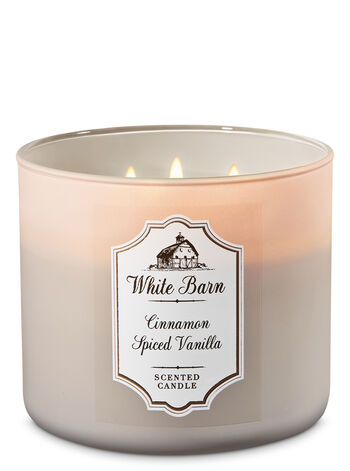White Barn Cinnamon Spiced Vanilla 3-Wick Candle - Bath And Body Works