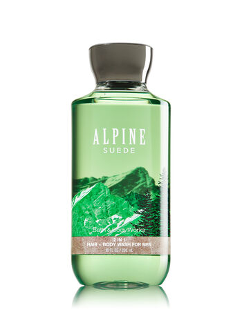 Signature Collection Alpine Suede For Men 2-in-1 Hair + Body Wash - Bath And Body Works