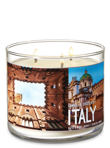 Cannoli & Chocolate 3-Wick Candle - Bath And Body Works