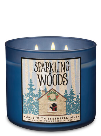 Sparkling Woods 3-Wick Candle - Bath And Body Works