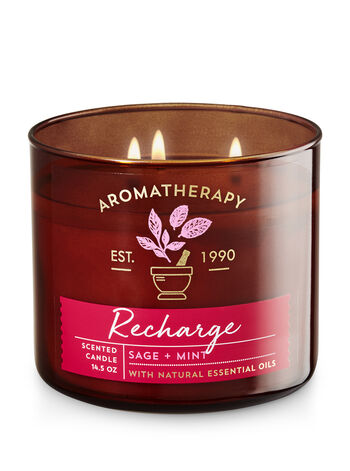 Aromatherapy Recharge - Sage & Mint 3-Wick Candle - Bath And Body Works