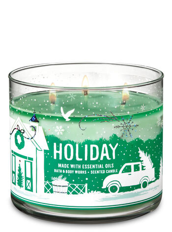 Holiday 3-Wick Candle - Bath And Body Works