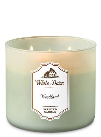 White Barn Woodland 3-Wick Candle - Bath And Body Works
