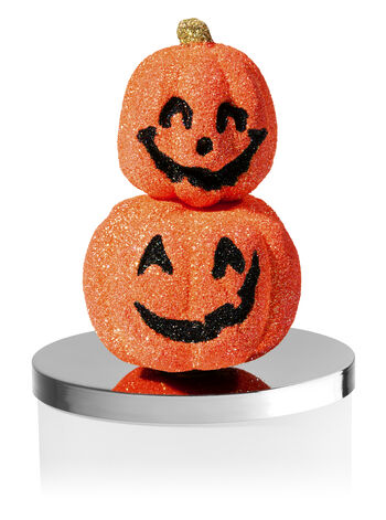 Glittery Stacked Jack-o'-Lantern 3-Wick Candle Magnet - Bath And Body Works