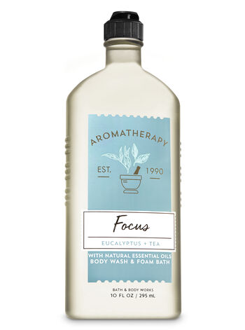 Aromatherapy Focus - Eucalyptus & Tea Body Wash & Foam Bath - Bath And Body Works