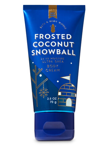 Signature Collection Frosted Coconut Snowball Travel Size Body Cream - Bath And Body Works