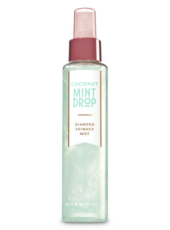 Signature Collection Coconut Mint Drop Diamond Shimmer Mist - Bath And Body Works