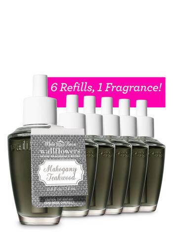 Mahogany Teakwood Wallflowers Refills, 6-Pack