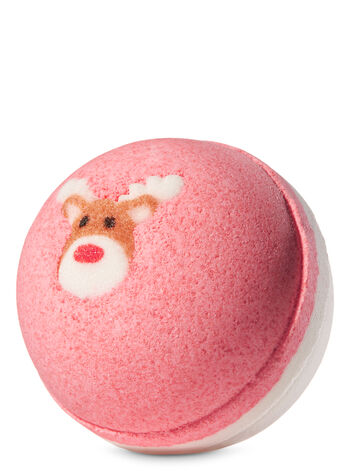 Winter Candy Apple 2 Color Sphere Bath Fizzy