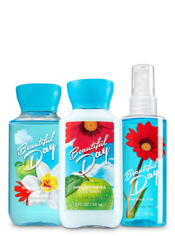 Signature Collection Beautiful Day Travel Size Daily Trio - Bath And Body Works