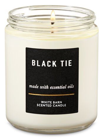 Black Tie Single Wick Candle - Bath And Body Works