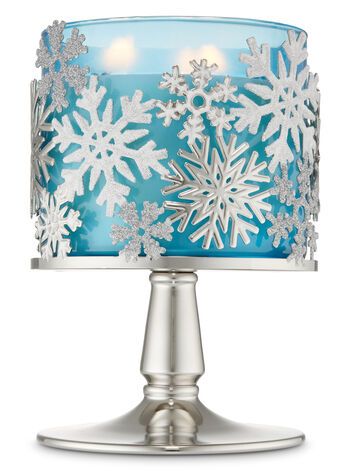 Tossed Snowflakes 3-Wick Candle Holder - Bath And Body Works