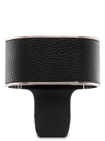 Black Leatherette Nightlight Scent Switching™ Wallflowers Duo Plug