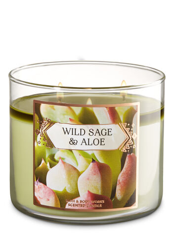 Wild Sage & Aloe 3-Wick Candle - Bath And Body Works