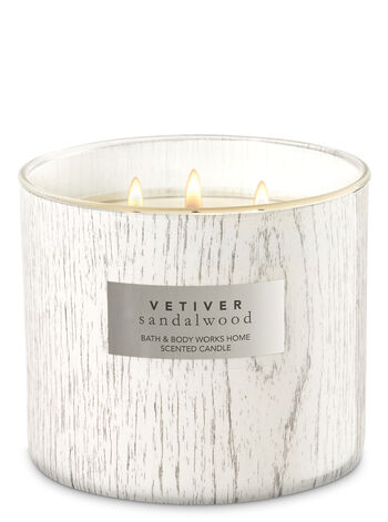 White Barn Vetiver Sandalwood 3-Wick Candle - Bath And Body Works